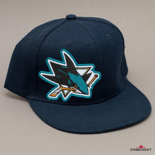 San Jose Sharks NHL blue cap