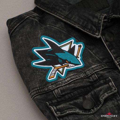 San Jose Sharks NHL jeans jacket