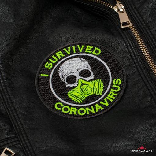 I survived coronavirus Leather Jacket