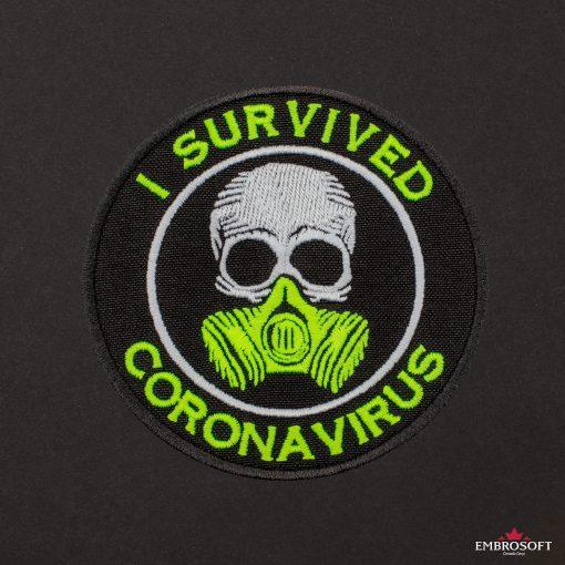 I survived coronavirus black background