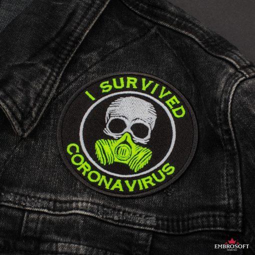 I survived coronavirus front jeans jacket
