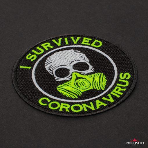 I survived coronavirus incline black background