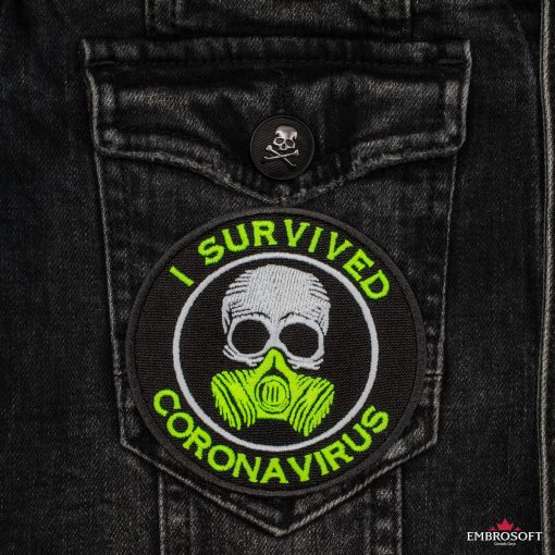 I survived coronavirus pocket jeans jacket
