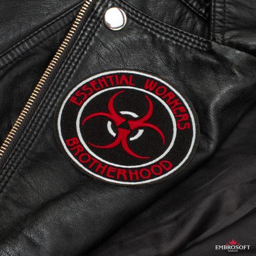 Essential workers brotherhood back Leather Jacket
