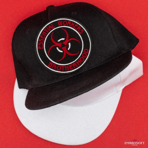 Essential workers brotherhood black white caps