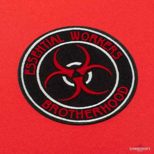 Essential workers brotherhood incline red background