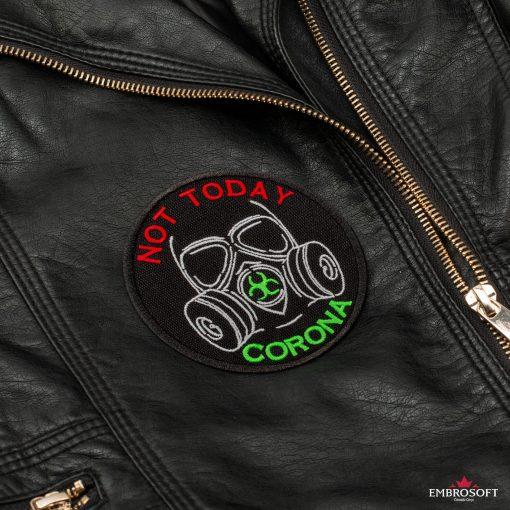 Not today corona leather jacket
