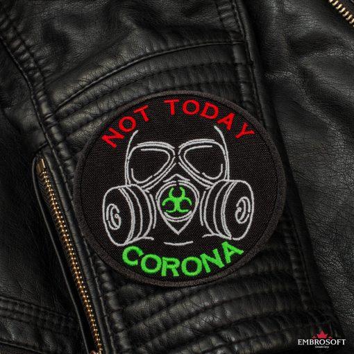 Not today corona sleeve leather jacket