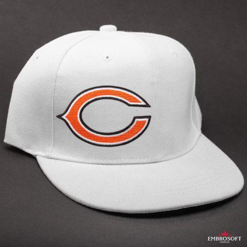 Chicago Bears NFL white cap black background