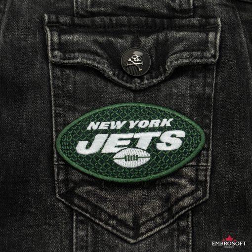 New York Jets NFL jeans jacket pocket
