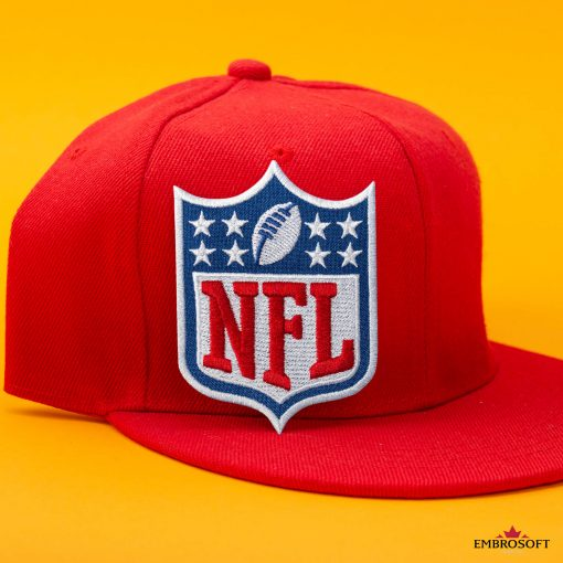 nfl red cap yellow background