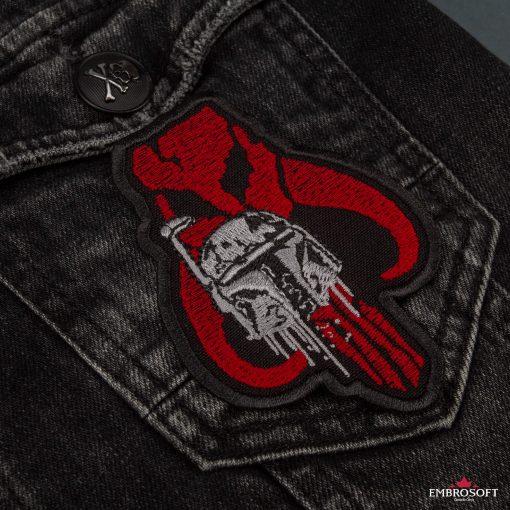 Star Wars The Mandalorian with Helmet jeans jacket pocket