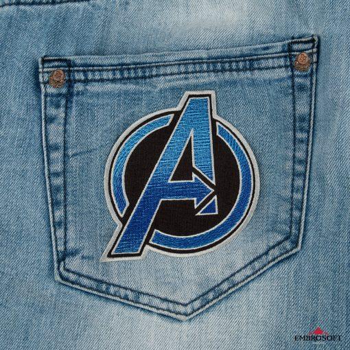 The Avengers BLUE jeans back
