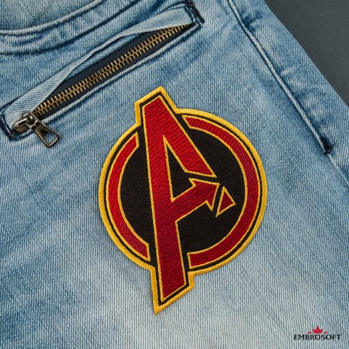 The Avengers RED jeans front
