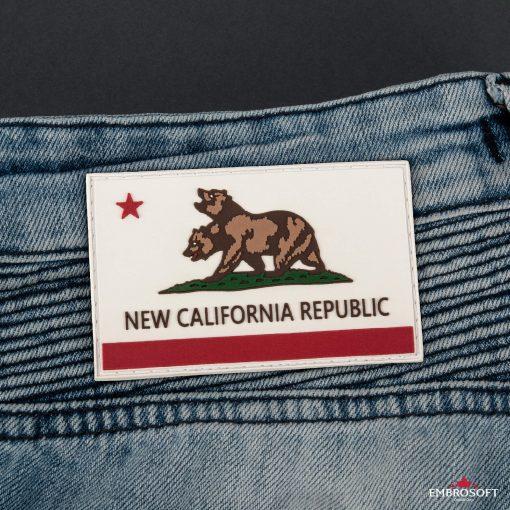 PVC Fallout New California Republic Flag back jeans