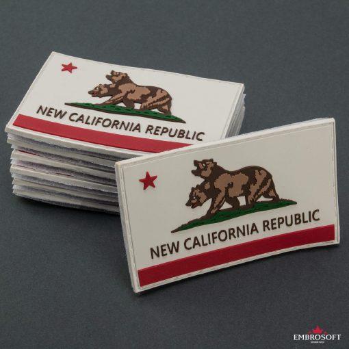PVC Fallout New California Republic Flag in a column