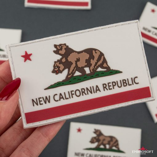 PVC Fallout New California Republic Flag in hand