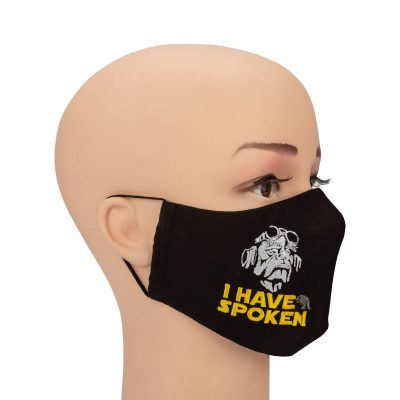 mask I have spoken on a mannequin full face
