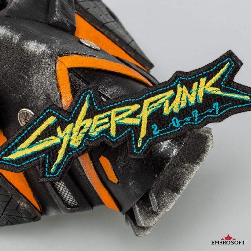cyberpunk yellow and blue mask