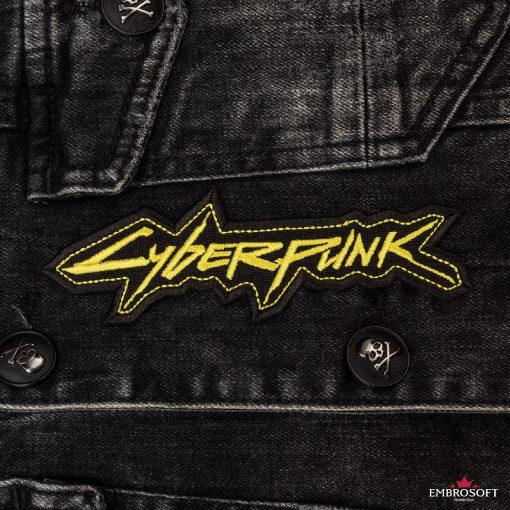 cyberpunk yellow front jeans jacket