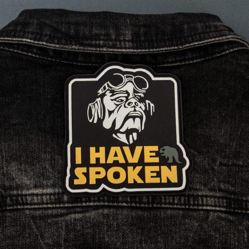 I have spoken back jeans jacket