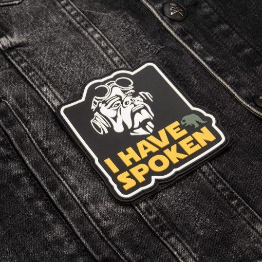 I have spoken front jeans jacket