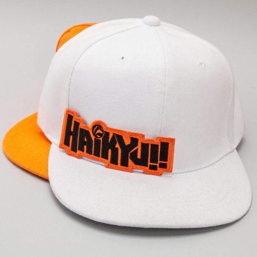 haikyj white and orange caps