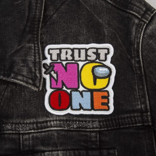 trust no one front jeans jacket