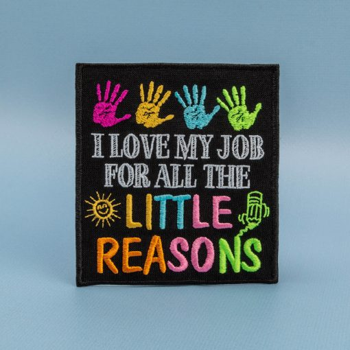 I love my job for all the little reasons background