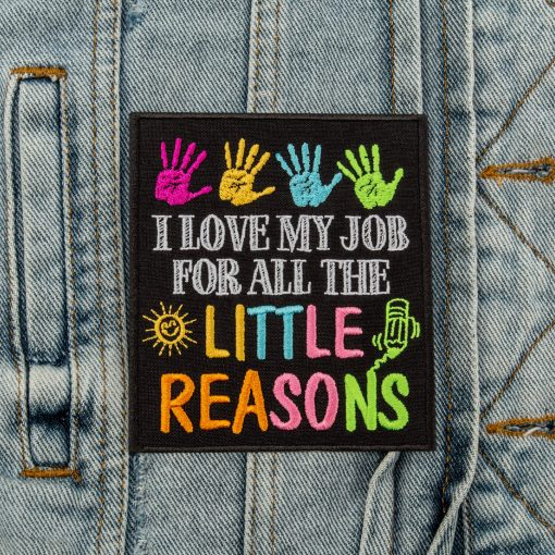 I love my job for all the little reasons front jeans jacket
