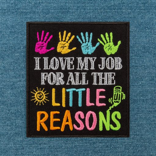 I love my job for all the little reasons jeans background